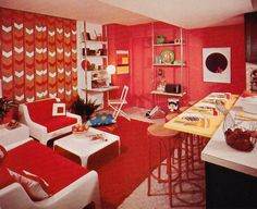 Decorating idea from the Better Homes & Gardens Decorating Book, 1975