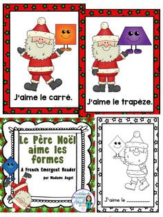 Le père Noël aime les formes!  Your French emergent readers will love learning about shapes with this fun Christmas themed books!  Features a variety of 2D shapes making it the perfect reader for Noël and les formes géométriques!