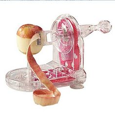 The chore of peeling apples won't be one anymore thanks to the new Pro-Peeler. The Apple Pro-Peeler removes only the skin of the fruit. It eliminates waste that hand peeling invariably creates. Quirky Kitchen, Cool Kitchen Gadgets, Cool Gadgets, Kitchen Tools, Cool Kitchens, Kitchen Dining, Kitchen Supplies, Kitchen Stuff, Kitchen Items