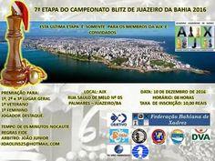 Emídio José Xadrez: 7ª Etapa do Campeonato Blitz de Juazeiro 2016 - Dia 17/12/2016
