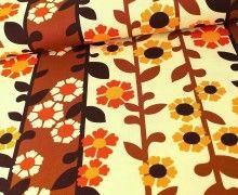 Canvas - Florals - Retro - Robert Kaufman - Braun
