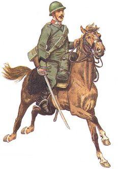 "Regio Esercito - Caporale del 27° Reggimento Cavalleggeri ""L'Aquila"", 1918"