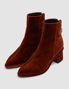 Modern ankle boot from Reike Nen in Velvet Copper