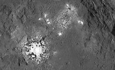 + - Ontem foi publicado aqui no OH um artigo mostrando uma foto recém liberada pela NASA, das misteriosas manchas brilhantes no planeta anão Ceres. Navegando pela web hoje, encontrei este artigo, o qual traduzo parte dele abaixo: Esta imagem foi obtida pela sonda Dawn da NASA, e mostra a createra Occator em Ceres, que …