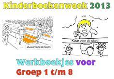 Kinderboekenweek 2013 - Werkboekjes voor Groep 1 t/m 8! Klik op de afbeelding! Spelling, Crafts For Kids, Preschool, Classroom, Teacher, Education, Learning, My Love, Books