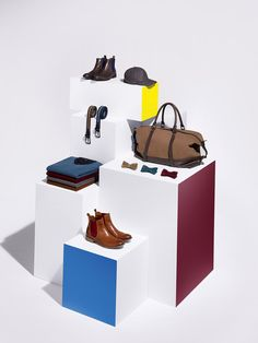 Visual Artists — Frank Hulsbomer for Celio's Autumn/Winter 2013 Campaign Shoe Display, Display Design, Store Design, Display Block, Layout, Visual Merchandising Displays, Showroom Design, Exhibition Display, Store Windows