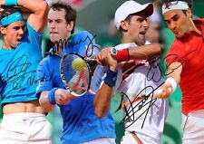 Roger Federer Rafael Nadal Djokovic Murray Tennis Autograph Signed A4 Poster 3