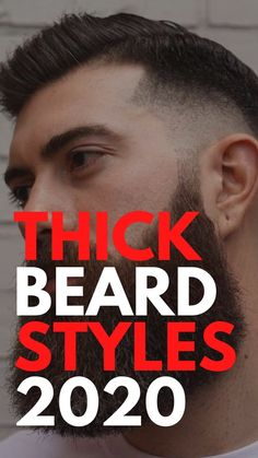 Thick Beard Styles 2020 Cool Hairstyles For Men, Men's Hairstyles, Thick Beard, Beard Game, Beard Styles For Men, Latest Mens Fashion, Face Shapes, Hair Type, Hair Trends