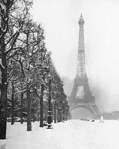 Winter in Paris.