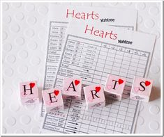 Valentines Yahtzee Game
