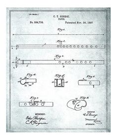 Take a look at this 'Flute' Patent Art Print by Oliver Gal on #zulily today!