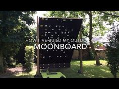 How to build an outdoor Moon board - bouldering climbing wall - YouTube