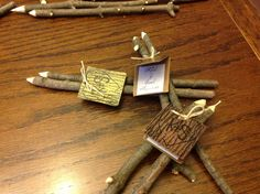 Hand made twig pencils Our Wedding, Place Cards, Pencil, Place Card Holders, Handmade, Hand Made, Handarbeit