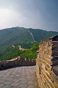 The Great Wall of China. This is one of the highlight of my life. It is very humbling to be on something that is so historic. The wall goes on for miles. We spent about an hour and a half exploring this part. There were very few other people on the w We're collecting Great Wall of China photos for show and tell.