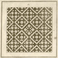 Optical illusion GIF from 1722 geometry book