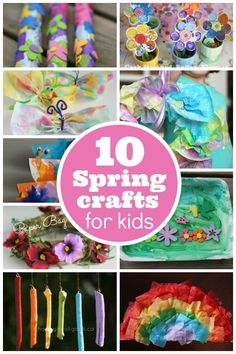 10 Easy Spring Crafts for Toddlers and Preschoolers - Happy Hooligans Crafts For Kids To Make, Crafts For Teens, Crafts To Sell, Fun Crafts, Holiday Crafts, Crafts Toddlers, Summer Crafts, Decor Crafts, Toddler Snacks