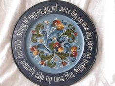 Norwegian Rosemaling in Telemark Style, with Scripture around the rim... on Etsy, $125.00