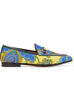 Gucci - Jordaan Horsebit-detailed Jacquard Loafers - Blue - IT41.5
