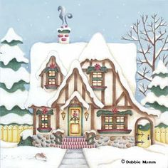 Melissa Shirley Designs | Hand Painted Needlepoint | Tudor Cottage © Debbie Mumm