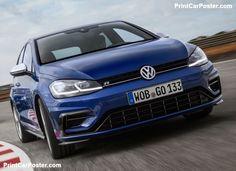 Volkswagen Golf R 2017 poster, #poster, #mousepad, #tshirt, #printcarposter