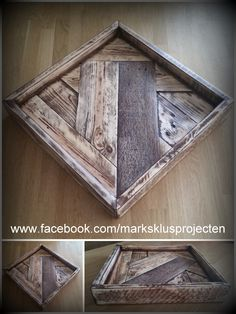 Serving tray made of recycled pallet wood. Experimented a little with different patterns. For more information about my other projects, check out my Facebook page.…