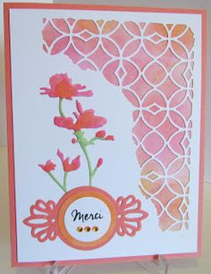"""Challenge #37 - Say """"Thank You"""" in a different language by Sleeper's Wife - Cards and Paper Crafts at Splitcoaststampers"""
