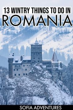 Planning to travel Romania in winter? This guide to winter activities in Romania covers Christmas Ma Slovenia Travel, Romania Travel, Travel Tips, Travel Destinations, Winter Destinations, Budget Travel, Travel Guides, Visit Romania, Travel