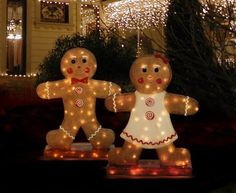 Barcana 31 Inch Illuminated Fibergl Gingerbread Boy Christmas Light Home Kitchen