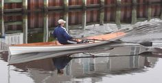 Annapolis Wherry: Lapstrake Recreational Rowing Shell That You Can Build! Kayak Boats, Canoe And Kayak, Boat Crafts, Water Crafts, Rowing Shell, Boys In The Boat, Classic Yachts, Boat Kits, Wood Boats