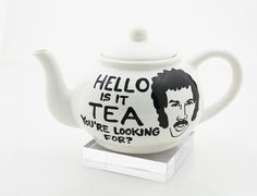 HELLO is it tea you're looking for full sized teapot by LennyMud  I NEED this!!! :)
