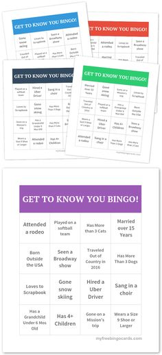 GET TO KNOW YOU BINGO!