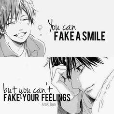 """#anime """"Tu peu feindre un sourire. Mais tu ne peux pas tricher avec tes propres émotions"""""""