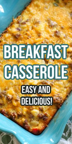 This Easy Breakfast Casserole comes together in no time for a weekend breakfast! Combine eggs with sausage, frozen hashbrown potatoes, and cheese for the ultimate easy breakfast or brunch casserole! Breakfast Casserole With Bread, Overnight Breakfast Casserole, Brunch Casserole, Breakfast Dishes, Breakfast Recipes, Sunday Breakfast, Egg Bake With Hashbrowns, Easy Egg Casserole