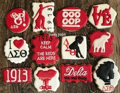 Check out our delta sigma theta cookies selection for the very best in unique or custom, handmade pieces from our shops. Butter Sugar Cookies, No Bake Cookies, Delta Sigma Theta Gifts, Greek Cookies, Microwave Baking, Delta Girl, Cookie Designs, Custom Cookies, Vegan