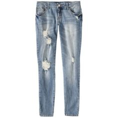 Mossimo Supply Co. Juniors Distressed Cropped De... : Target Mobile