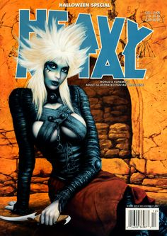 A brief history of Heavy Metal Magazine. Heavy Metal presents Gates, the online Comic by Hal Hefner Heavy Metal Comic, Heavy Metal Girl, Metal Magazine, Magazine Art, Magazine Covers, Fantasy Comics, Fantasy Art, Black Metal, Pinup