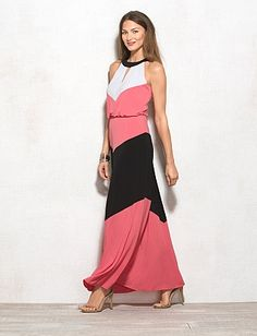 New arrival maxi dress from Dressbarn. The exact blend of bold yet elegant.