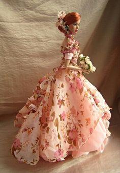 Barbie Wedding Dress, Barbie Gowns, Barbie Dress, Barbie Clothes, Beautiful Barbie Dolls, Pretty Dolls, Pink Fashion, Fashion Dolls, Crochet Barbie Patterns