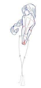 how to draw female figures, draw female bodies step 16