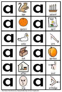 Bokstäver – MalinsBildverkstad Learn Swedish, Swedish Language, Elementary Education, Ikea, Crafts For Kids, Classroom, Printables, Learning, Sweden