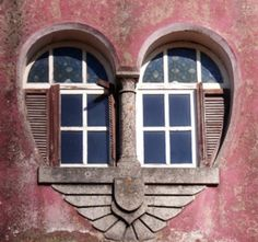 love doors and windows, portugal Heart In Nature, Heart Art, Yoga Studio Design, I Love Heart, My Funny Valentine, Valentines, Valentine Hearts, Doorway, Windows And Doors