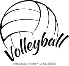 Volleyball Clipart, Volleyball Team Gifts, Volleyball Designs, Volleyball Wallpaper, Script Type, Name Signs, Kid Names, Clip Art, Illustration