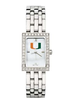 Miami Hurricanes Women's Allure Watch with Stainless Steel Bracelet