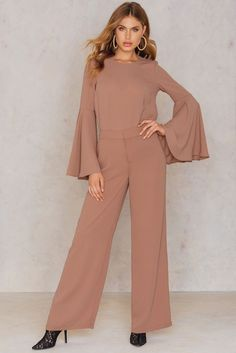 Flared Suiting Pants Pink Terracotta