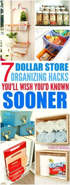 These 7 Dollar Store hacks from the experts are THE BEST! I'm so glad I found these GREAT tips! Now my home will looks so less cluttered! I'm SO pinning for later!