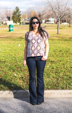 FLARED GINGER JEANS + SUTTON BLOUSE   Closet Case Files