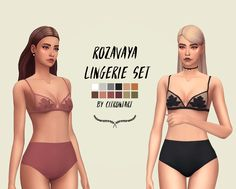 ROZAVAYA LINGERIE SET (BOTTOM MESH BY WEEPINGSIMMER) hey guys I've been working on this bralette for awhile and a lot of you guys were looking forward to this so here you go! I feel like all my cc is...