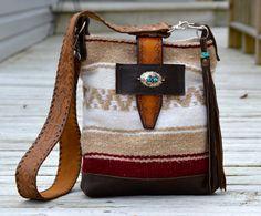 Vintage Blanket Hobo Bag /Purse Navajo Blanket by NINandBUMM, $90.00