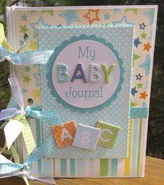 Venta Baby Boy Mini Album Scrapbook Kit o por ArtsyAlbums en Etsy