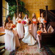 Blush Bridesmaid Dresses // photo by: Eleven Weddings Photography // Bridesmaid Looks: Amsale Flagship Salon